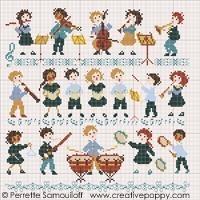 Perrette Samouiloff Stickvorlage The Orchestra