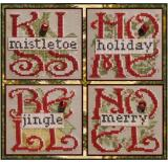 Hinzeit Stickvorlage Charmed 4 Christmas
