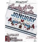 Kreuzstichvorlage Stoney Creek - Towels Of The Month January