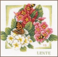 Lanarte Stickpackung PN-0162302 Frühling 25x25