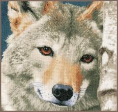 Lanarte Stickpackung PN-0166758 Wolf 35x35