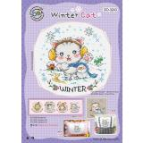 Soda Stitch Stickvorlage SO-3243 Winterkatze