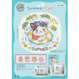 Soda Stitch Stickvorlage SO-3241 Sommerkatze