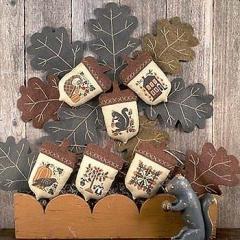 Prairie Schooler Stickvorlage Acorns