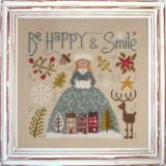 Stickvorlage Jardin Privé Be Happy & Smile