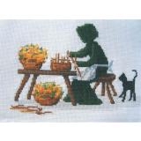 Lynns Print/Diane Graebner Stickvorlage The Basket Maker