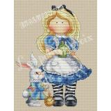 Stickvorlage Les Petites Croix De Lucie Alice And The Rabbit