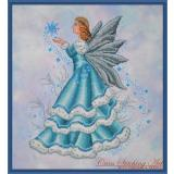 Kreuzstichvorlage Cross Stitching Art - Celine The Winter Fairy