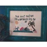 Vintage Needlearts Stickvorlage Its A Mermaids Life For Me