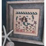 Vintage Needlearts Stickvorlage In A Mermaids Garden