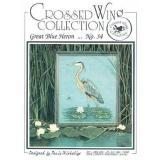 Crossed Wing Collection Stickvorlage Great Blue Heron