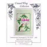 Crossed Wing Collection Stickvorlage Ruby Throated Hummingbird