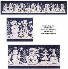 Kreuzstichvorlage Imaginating - Snowmen Gathering