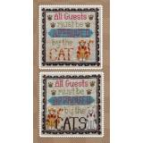 Waxing Moon Designs Stickvorlage Cat Owners Welcome