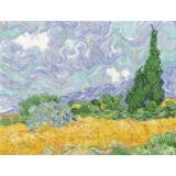 DMC Stickpackung BL1067/71 A Wheatfield with Cypresses van Gogh