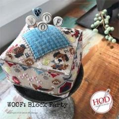 Hands On Design Stickvorlage Block Party Woof