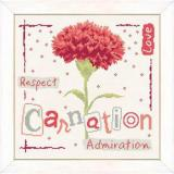 Lilipoints Stickvorlage Carnation