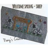 Romys Creations Stickvorlage Welcome Spring Sheep