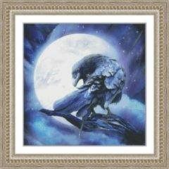 Kustom Krafts Stickvorlage Moon Raven