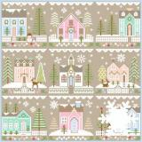 Country Cottage Needleworks 9 Stickvorlagen Serie Glitter Village