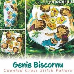 Tiny Modernist Inc Stickvorlage Genie Biscornu