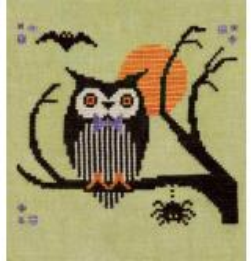 Artful Offerings Stickvorlage Hoot Owl Halloween
