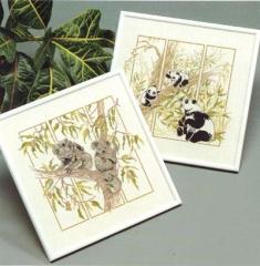 Stickpackung Oehlenschläger 09422 Pandas 35x35
