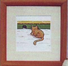 Stickpackung Oehlenschläger Kreuzstich 50121 - Katze vor dem Mauseloch