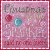 Waxing Moon Designs Stickvorlage Sparkly Christmas