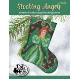 Cat and Mouse Designs Stickvorlage Stocking Angel 3 Green In The Angel