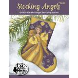 Cat and Mouse Designs Stickvorlage Stocking Angel 4 Gold In The Angel