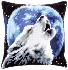 Kreuzstichkissen Vervaco PN-0171818 - Heulender Wolf