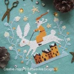 Barbara Ana Stickvorlage Christmas Hare
