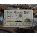 Puntini Puntini Stickvorlage Sow, Grow, Eat