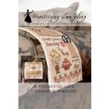 Heartstring Samplery Stickvorlage Thankful Life Chairarm Pinkeep
