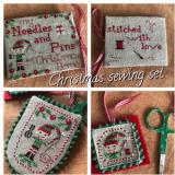 Romys Creations Stickvorlage Christmas Sewing Set