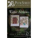 Plum Street Samplers Stickvorlage Winter Saltboxes