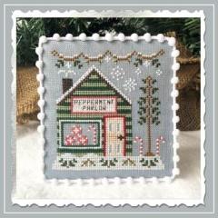 Country Cottage Needleworks Stickvorlage Snow Village 4 Peppermint Parlor