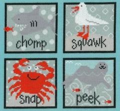 Imaginating Stickvorlage Sea Creatures Squares