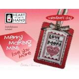 Heart In Hand Needleart Stickvorlage Merry Making Mini Love You More