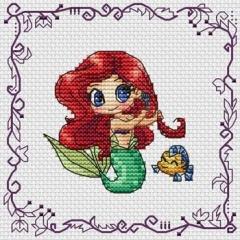 Les Petites Croix De Lucie Stickvorlage Baby Princess Ariel