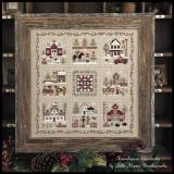 Little House Needleworks 9 Stickvorlagen Serie Farmhouse Christmas
