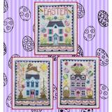 Waxing Moon Designs Stickvorlage Easter House Trio