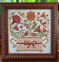 Carriage House Samplings Stickvorlage Kreuzstich Blooming Basket