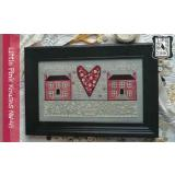Annie Beez Folk Art Stickvorlage Little Pink Houses