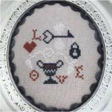 Bendy Stitchy Designs Stickvorlage Love