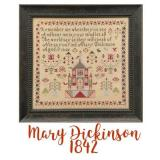 Just Stitching Along Stickvorlage Miss Mary Dickinson 1842
