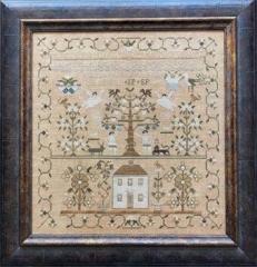 Shakespeares Peddler Stickvorlage Maria Phinney 1832 Adam & Eves House