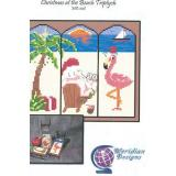 Meridian Designs Stickvorlage Christmas at the Beach Triptych