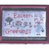Romys Creations Stickvorlage Easter Greetings